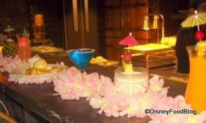 Drinks Available at Ohana and Tambu Lounge