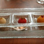 A trio of sorbets to begin the dessert courses