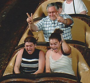 My dad, my sister and I on Splash Mountain