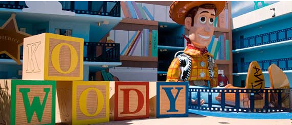 Toy Story Building at Disney's All-Star Movies Resort