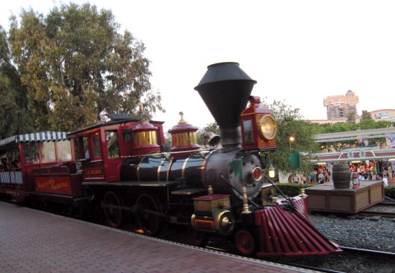 how to get to disneyland by train