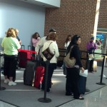 Line at the Lightly Staffed Check-In Counter at Newport News