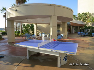 Poolside ping pong at Bay Lake Tower.