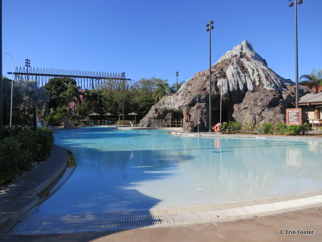 Polynesian, zero entry end of the volcano pool