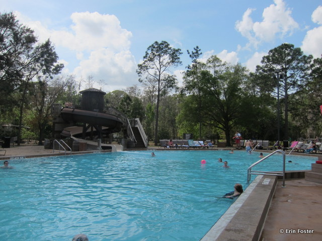 Fort Wilderness, Meadow pool, looking toward the slide