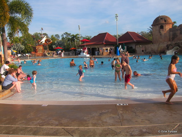 Caribbean Beach Resort, main feature pool, zero entry access point