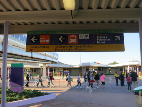 As you come off the monorail, there are signs pointing you to other forms of transportation.