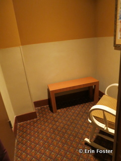 Private nursing room at the DHS Baby Care Center.