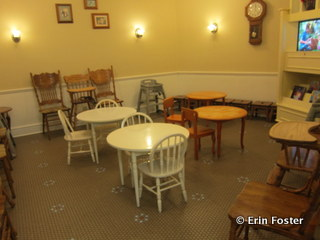 Family waiting area at the Magic Kingdom Baby Care Center.
