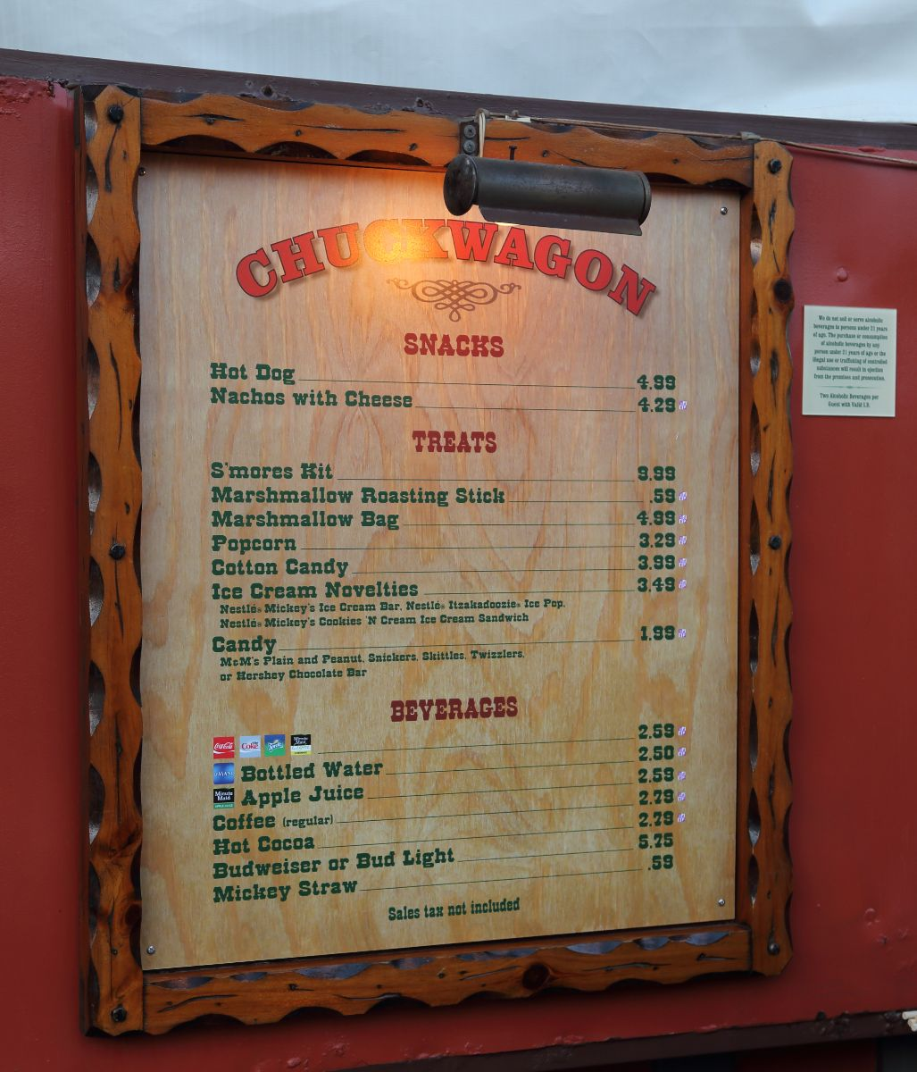 Chuck Wagon Menu