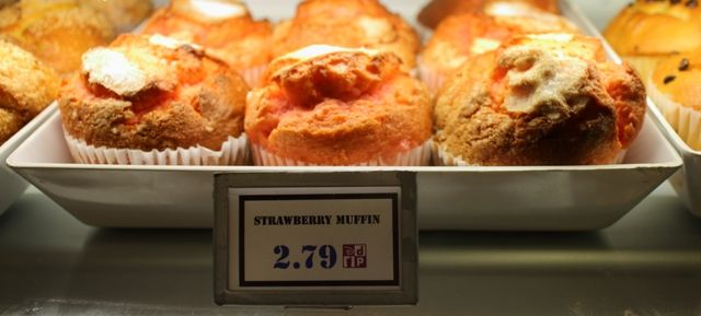 Strawberry Muffins at Writer's Stop