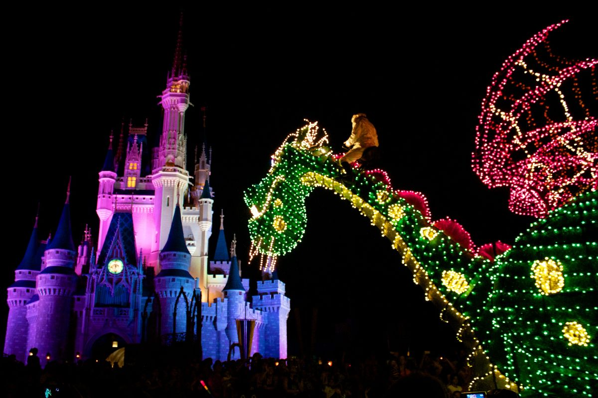 Main Street Electrical Parade from the Fastpass+ viewing area