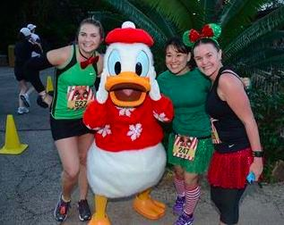 At the Jingle Jungle 5K, 2012.