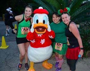 At the Jingle Jungle 5K, 2012.