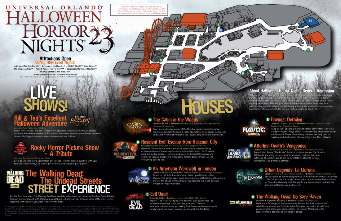 Halloween Horror Night Coupons highlights 2 Attack The Houses