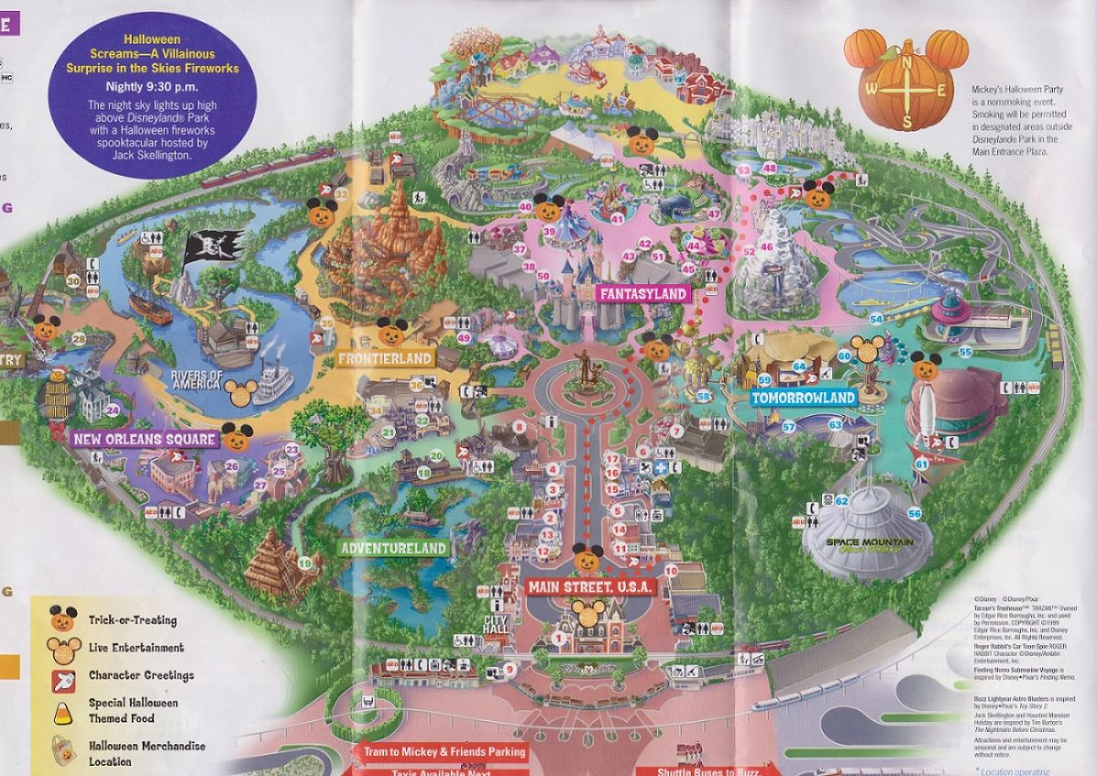 Disneyland Halloween Party 2013 Map