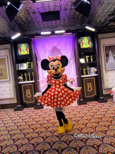 Minnie meeting in her former location at The Magic of Disney Animation