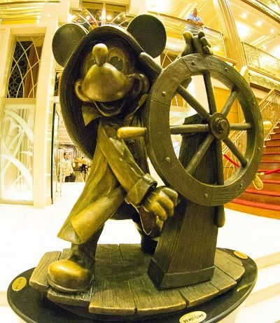 Mickey Atrium Statue on the Magic