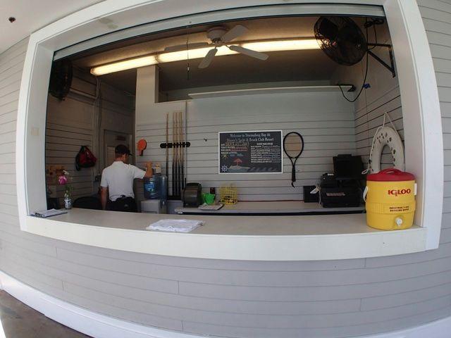 Information booth. Restrooms are next door.