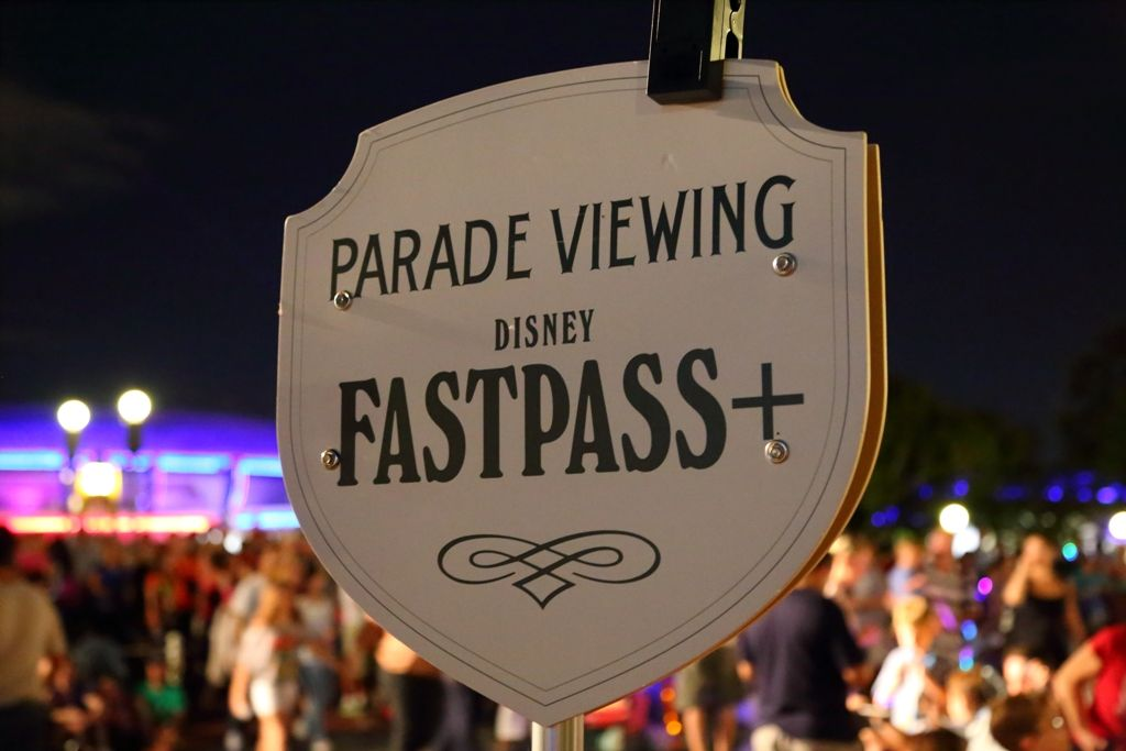 Main Street Electrical Parade FastPass+ Viewing Area Sign