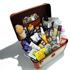 Travel size toiletries in luxury brands let your loved ones pamper on the go.