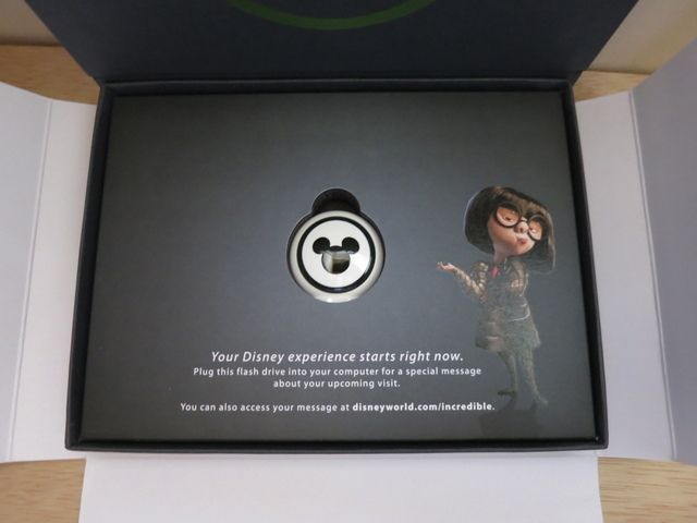 Flash drive in presentation box.