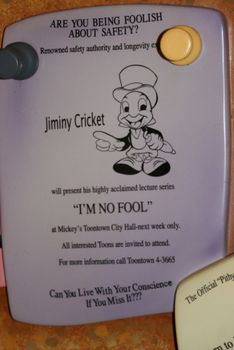 "Jiminy says, ""Can you live with your conscience if you miss it?"""