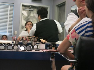 They do your hair and makeup for the stage.