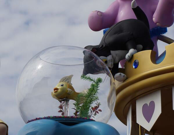 Figaro and Cleo from the former Celebrate a Dream Come True parade (photo courtesy of Attractions Magazine)