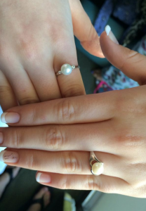 Pearls set into silver rings. Photo courtesy of Disney Parks Moms Panelist Kirsten E.
