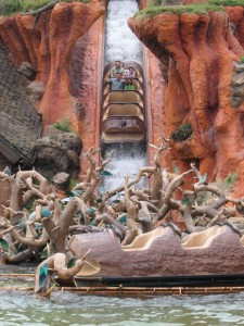You'll going to get wet on Splash Mountain.
