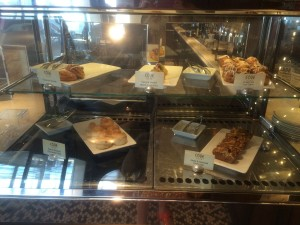 A selection of complimentary morning pastries at the Cove Cafe