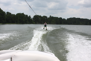 You can waterski right in the middle of Bay Lake.