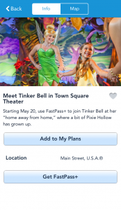 Tink meet at the Magic Kingdom