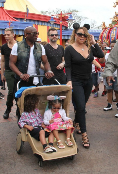 Mariah Carey and her celebrity husband, Nick Cannon are frequent guests at the Disney Parks on both coasts.