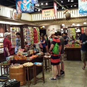 Candy Table Japan, containing Epcot Snacks and other goodies