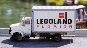 Lego-built truck welcomes you to Miniland at Legoland Florida.  Photo by Thomas Cook