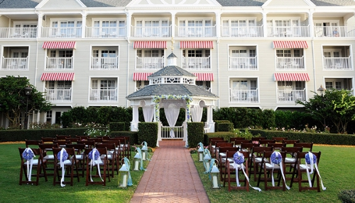 One option for a Disney World Wedding at the Yacht Club Copyright - Disney