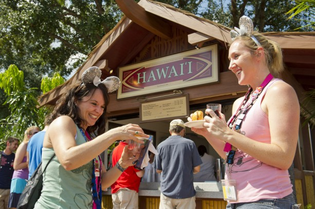 The Hawai'i kiosk at Epcot Food and Wine Festival.