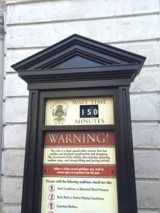 Gringotts Wait Time Sign