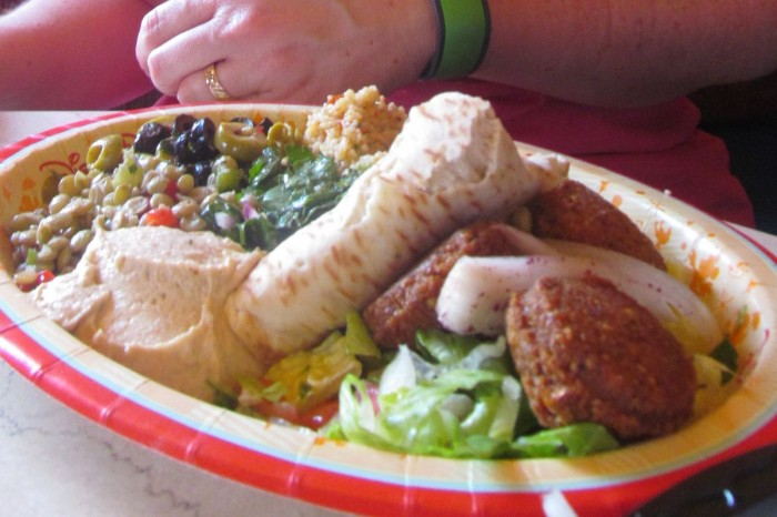 Tangierine Cafe offers wonderful meals and less adventurous choices, too.