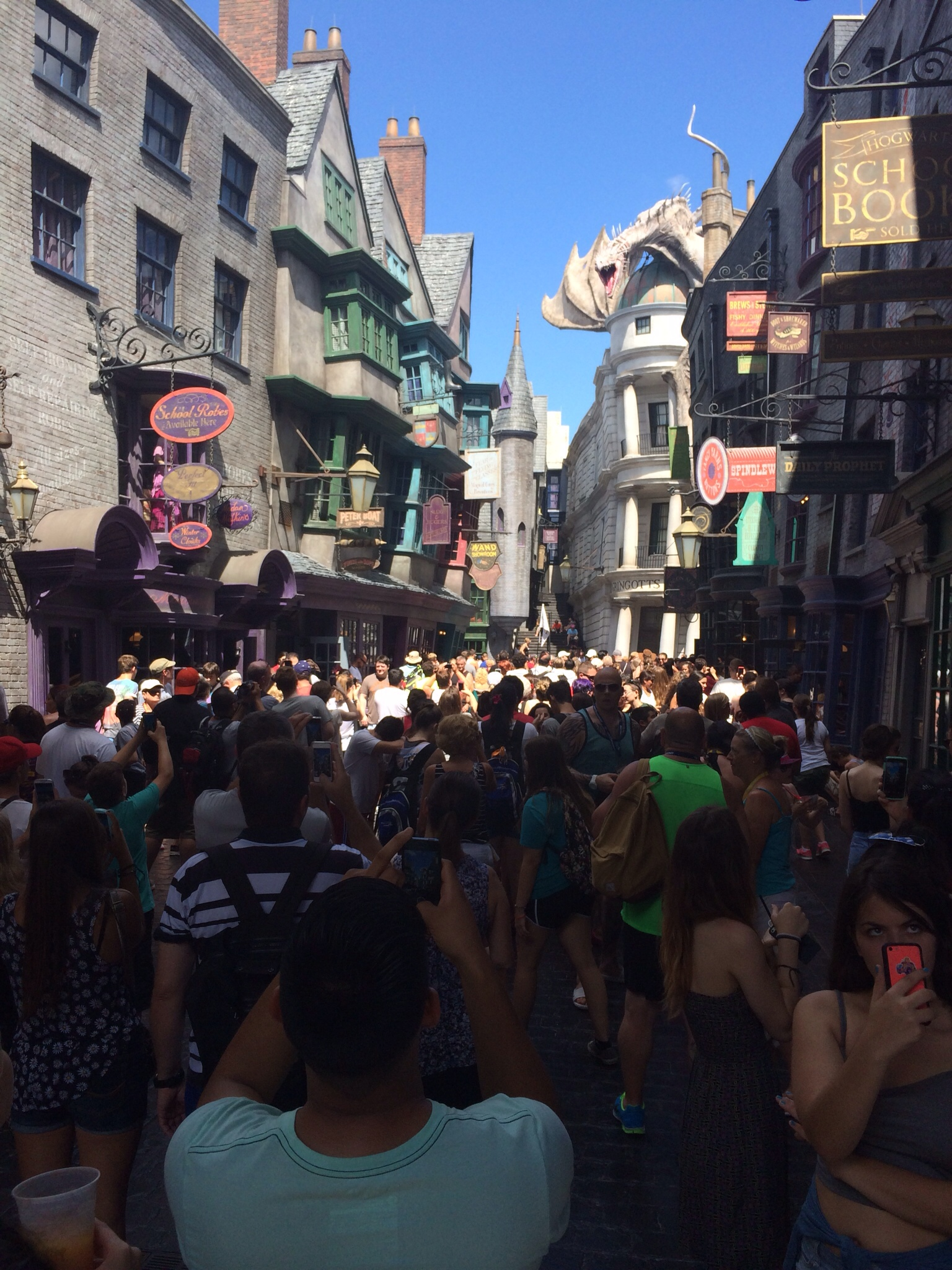 Diagon Alley touring plans