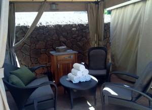 Interior of an Aulani cabana (photo by Sarah Graffam)