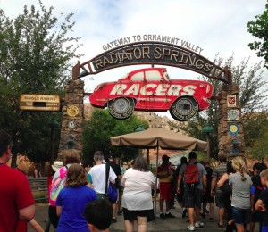 Radiator Springs Racers entrance -Natalie Reinert