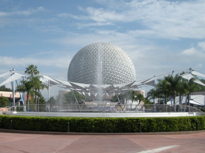 The iconic Spaceship Earth.