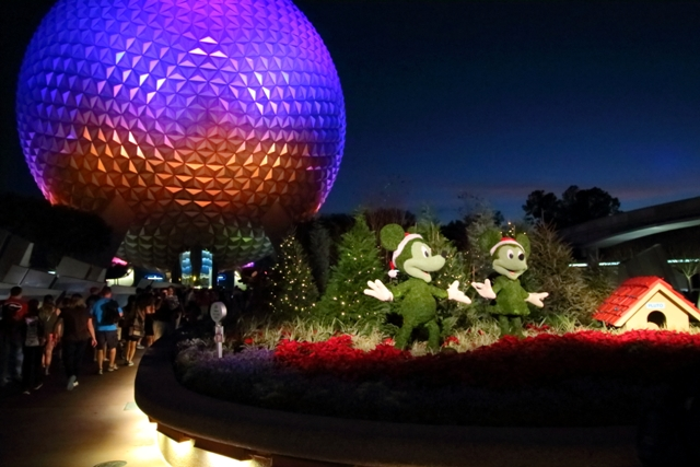 Christmastime at Epcot