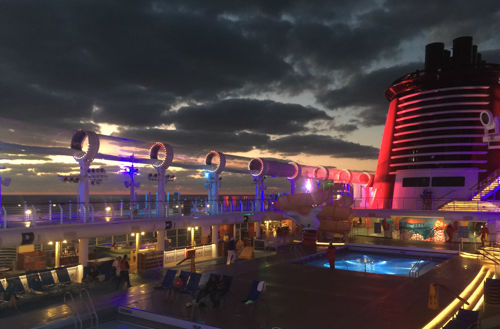 Sunset is my favorite time of day on a Disney Cruise, but time of year is what really impacts your fare. Photo - Laurel Stewart