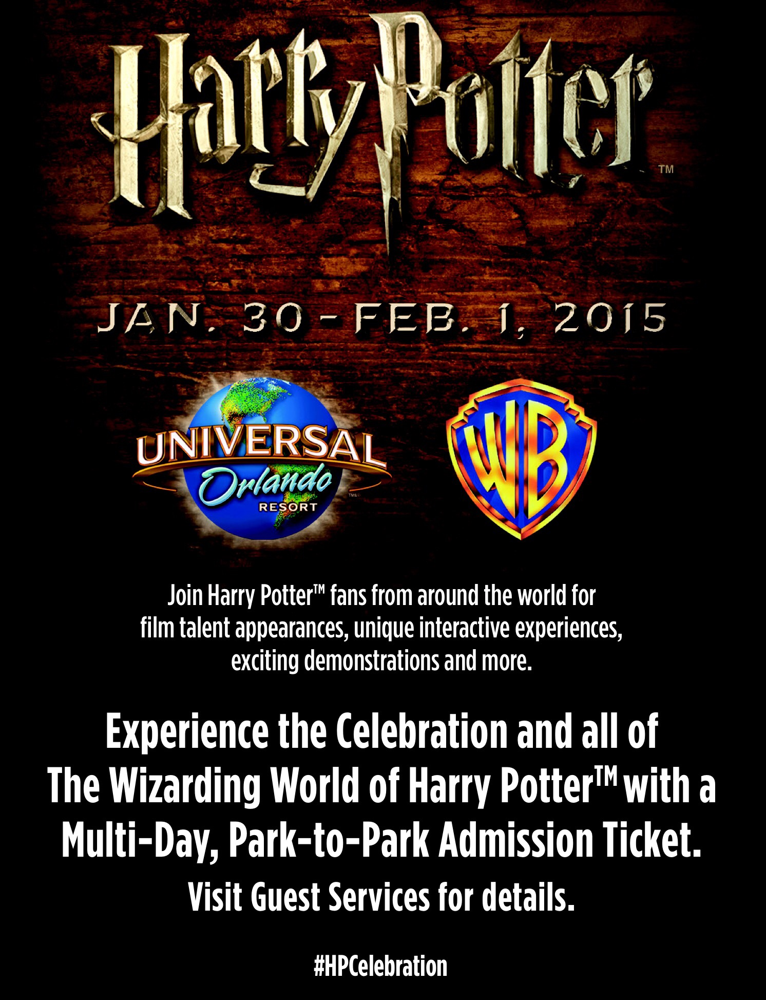 Celebration of Harry Potter schedule and autograph information