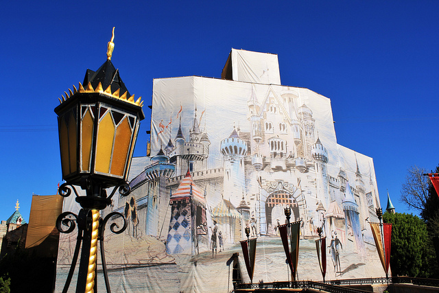 Disneyland Castle Refurb 1