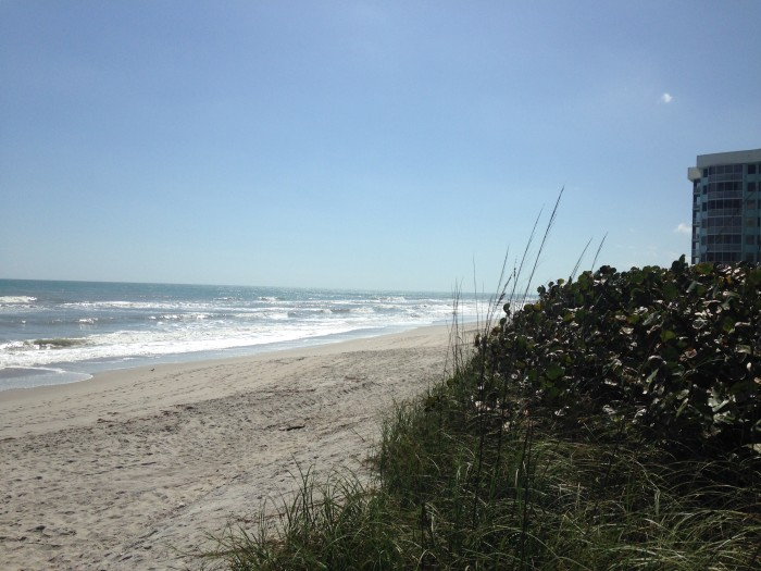 A quiet shoreline in Satellite Beach.
